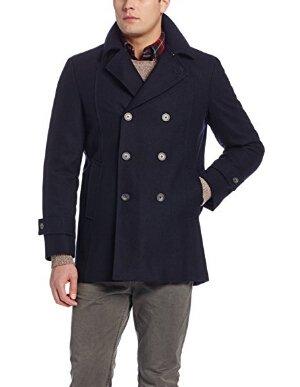 $134.99包邮Tommy Hilfiger Brady 男士双排扣短款羊毛混纺外套