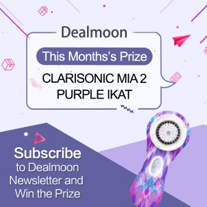 Subscribe to Dealmoon Newsletter, Win the Clarisonic Mia 2 Purple IKAT