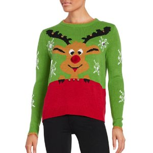 Reindeer Christmas Sweater | Lord & Taylor