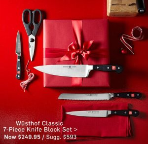 Wüsthof Classic 7-Piece Knife Maple Block Set
