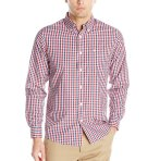 $11 Dockers Men's Long-Sleeve Multicolored Gingham Button-Front Shirt