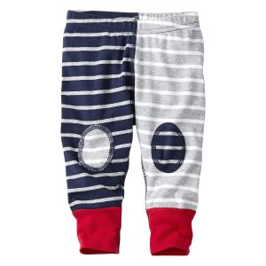 Hanna Andersson Navy & Gray Stripe Happy Organic Cotton Wiggle Pants | zulily