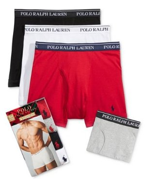 Ralph Lauren Polo Holiday Men's 4 Pack Boxer Briefs