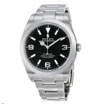 ROLEX Explorer Black Dial Domed Bezel Oyster Bracelet Men's Watch BKASO