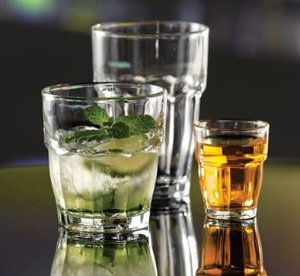 $5.99 Bormioli Rocco Rock Bar Stackable Rocks Glasses, Set of 6, 9 oz.