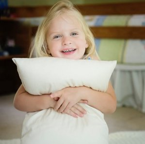 Toddler Pillow - Delicate Organic Cotton Shell - Soft and Supportive Pillows for Kids