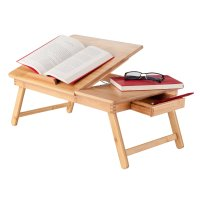 Winsome Wood Baldwin Lap Desk with Flip Top Bamboo