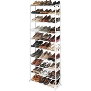 Whitmor 6780-3048-WHT White Resin 30-Pair Shoe Rack