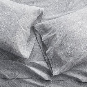 Torben Grey Sheets and Pillow Cases | Crate and Barrel