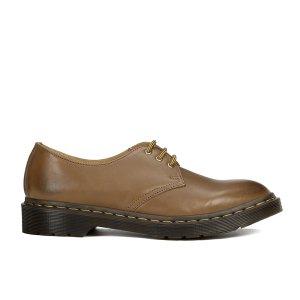 Dr. Martens Men's Milled Dorian 3-Eye Leather Shoes - Brown - FREE UK Delivery
