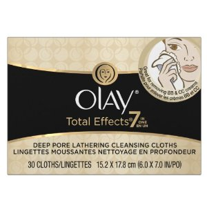 Amazon.com: Olay Total Effects Lathering Cleansing Cloths 30 Count: Beauty
