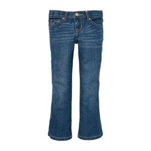 Girls Basic Bootcut Jeans - Indigo Stone Wash   The Children's Place