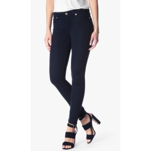 THE ANKLE SKINNY IN MIDNIGHT BLUE RICHE SATEEN