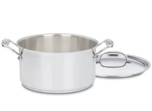 Cuisinart Chef's Classic Stainless Stockpot with Cover, 6-Quart