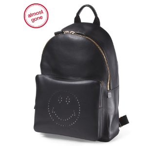 Made In Italy Leather Smiley Backpack - Shoulder Bags - T.J.Maxx