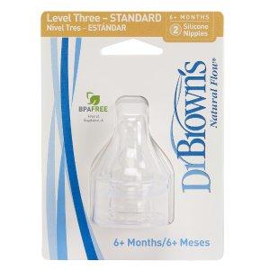 Dr. Brown's BPA Free Standard Nipples 2 Pack - Level 3 - Dr. Browns - Babies