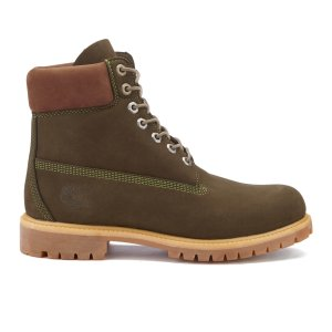Timberland Men's 6 Inch Premium Boots - Dark Olive Waterbuck NB - FREE UK Delivery