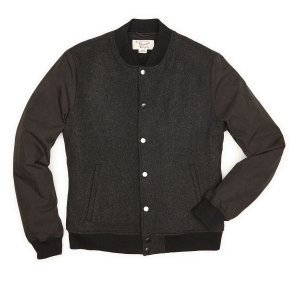 WOOL BLEND BASEBALL JACKET | Original Penguin