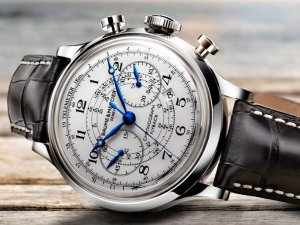 Baume and Mercier Capeland White Dial Chronograph Mens Watch 10006