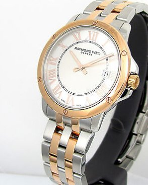 RAYMOND WEIL Tango Silver White Dial Two-tone Men's Watch