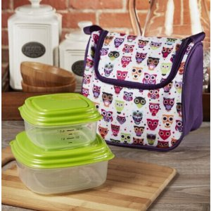 Morgan Kids' Insulated Lunch Bag with Sandwich & Side Container Set – Fit & Fresh