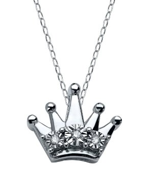 $19 Teeny Tiny Crown Pendant with Diamonds