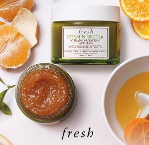 Up to 9 Free Samples Fresh® 'Vitamin Nectar' Vibrancy-Boosting Face Mask @ Nordstrom