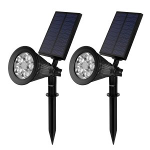 Intey Solar Spot Lights, 2 Models 200 Lumen Waterproof 4 LED Adjustable Wall Light