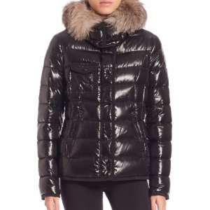 Moncler Armoise Fur-Trimmed Puffer Jacket