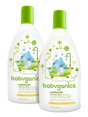 Babyganics Baby Bubble Bath, Chamomile Verbena, 20oz Bottle, (Pack of 2) , Prime Member Only