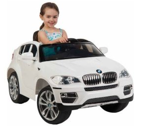 $107 Huffy BMW X6 6-Volt Battery-Powered Ride-On, white