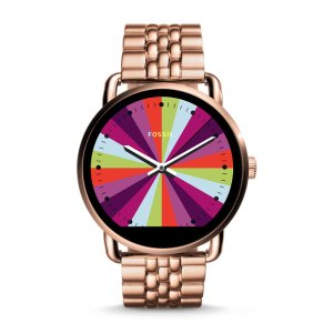 Q Wander Touchscreen Rose Gold-Tone Stainless Smartwatch - Fossil