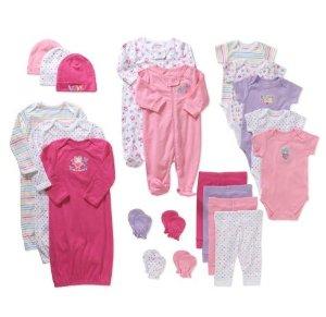 Garanimals Newborn Baby Girl 21 Pc Layette Baby Shower Gift Set