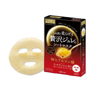 UTENA Premium Puresa Golden Jelly(GELEE) Mask Hyaluronic Acid 3sheets