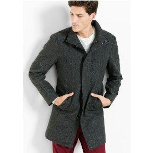 Herringbone Wool Blend Topcoat