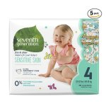 Seventh Generation Baby Diapers, Free and Clear for Sensitive Skin, with Animal Prints @ Amazon.com