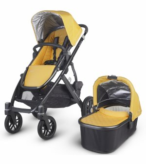 $699.99(原价$879.99)UPPAbaby VISTA 2015 婴儿推车/睡篮套装