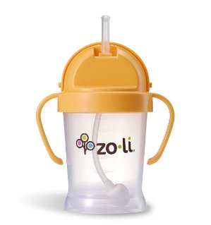 ZoLi BOT XL Straw Sippy Cup - Orange 6 oz @ Amazon