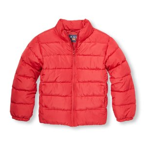 Boys Long Sleeve Solid Puffer Jacket   The Children's Place