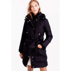 Wintress belted puffer coat
