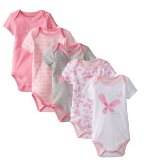 From $11.62 Calvin Klein Baby Girls' 5 Pack of Bodysuits