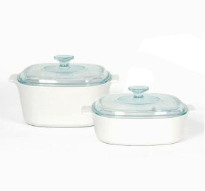 $53.99 + Free Gift + Free ShippingCorningWare® Stovetop™ Pyroceram®  Just White 4-pc Casserole Set