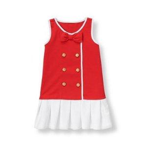 Baby Girl Riviera Red Sailor Ponte Dress at JanieandJack