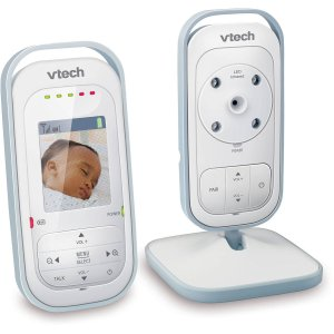 VTech VM311 Safe & Sound Expandable Digital Video Baby Monitor with Full-Color and Automatic Night Vision, 1 Parent Unit, White/Silver - Walmart.com