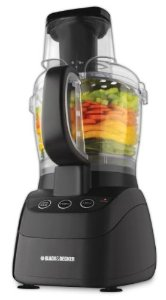 Black & Decker PowerPro Wide-Mouth 10-Cup Food Processor, Black