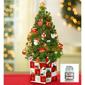 Countdown to Christmas Spruce Tree + Free Candle | 1800Flowers.com - 101902