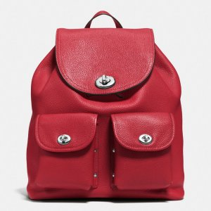 COACH: Turnlock Rucksack In Polished Pebble Leather