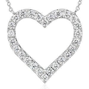 Diamond Heart Pendant in 14k White Gold (1 ct. tw.) | Blue Nile