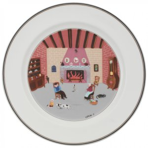 Design Naif Dinner Plate #5 - By The Fireside 10 1/2 in - Villeroy & Boch