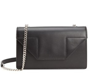 Saint Laurent Black Leather 'Betty' Chain Shoulder Bag
